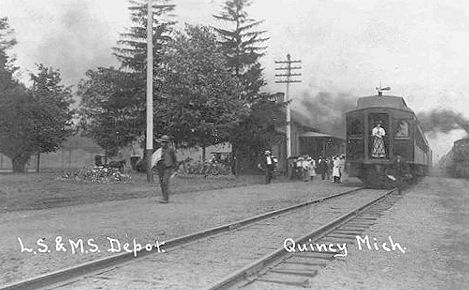 Quincy Depot with train